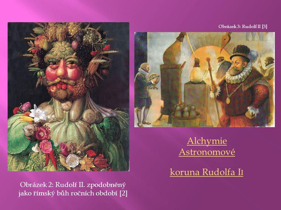 Obrázek 2: Rudolf II. zpodobněný jako římský bůh ročních období [2]